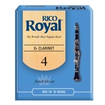 RIRYCL4E Rico Royal Clarinet 4 Each Reeds