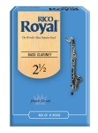 RIRYBCL25B Rico Royal Bass Clarinet 2 1/2 Box Reeds
