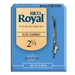 RIRYACL25B Rico Royal Alto Clarinet 25 Box Reeds