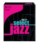 Rico RIJSAS3MF Jazz Select Alto Sax 3 Med Filed Box Reeds