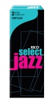 Rico RIJSTSU2H Jazz Select Tenor Sax Unfiled 2 Hard Reeds Box
