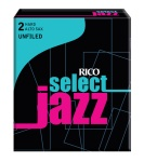 Rico RIJSASU2H Jazz Select Alto Sax 2 Hard Unfiled Box Reeds