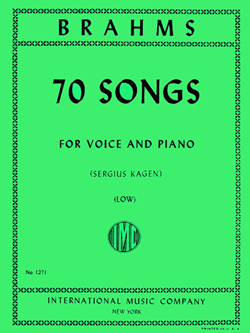 70 Songs Low Voice And Piano