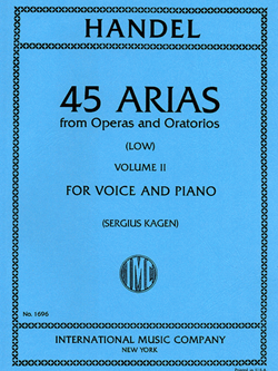 45 Arias Volume II Low Voice And Piano