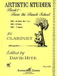 Artistic Studies, Book 1 From the French School Clarinet