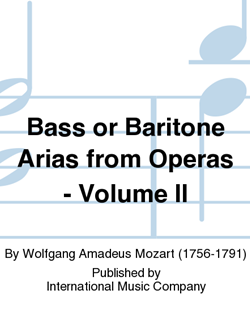20 Arias From Opera Volume II Bass/Baritone