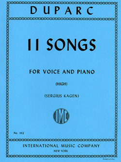 Eleven Songs High Voice & Piano
