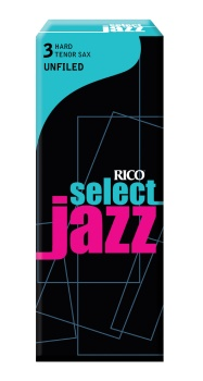 Rico RIJSTSU3H Jazz Select Tenor Sax Unfiled 3 Hard Reeds Box