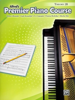 Alfred's Premier Piano Course: Theory Book 2B Book Only