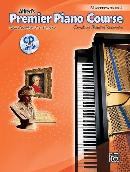 Alfred's Premier Piano Course Masterworks, Book 4 w/CD