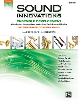 Sound Innovations for Concert Band: Ensemble Development French Horn