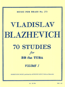 Blazhevich: 70 Studies For Tuba Vol. 1