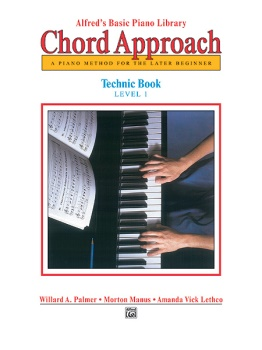 Alfred's Basic Piano Library Chord Approach Technic Book 1