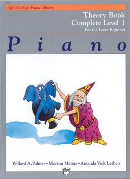 Alfred's Basic Piano Library Complete Theory Book 1