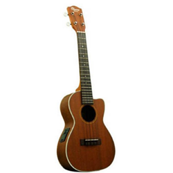 CK20CE Ohana Electric Acoustic Concert Ukulele Solid Mahogany Top, 3 Band EQ, CK-20CE