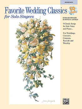 Favorite Wedding Classics for Solo Singers Medium High Voice w/CD