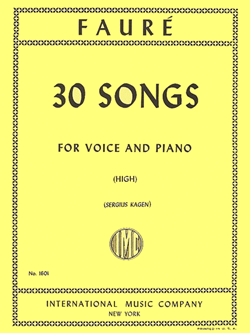 30 Songs High Voice And Piano