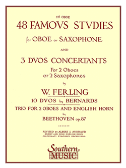 48 Famous Studies For Oboe Or Sax 1st Pt